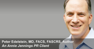 Real Publicity Book Promotion Success Story With Peter Edelstein, MD, FACS, FASCRS